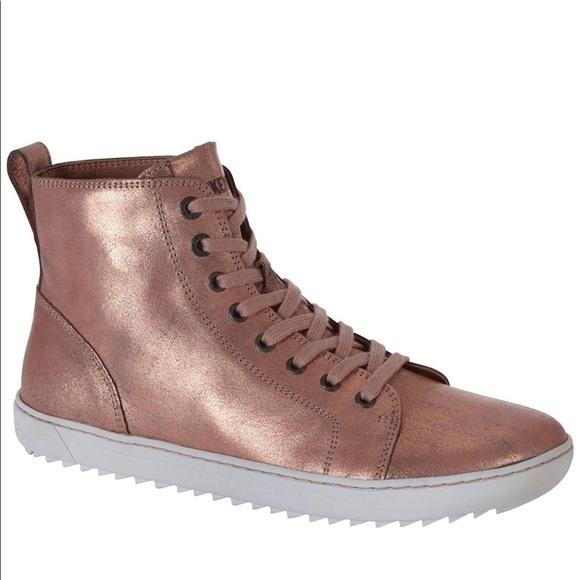 new concept 45933 e871d Birkenstock Bartlett Rose Gold Metallic Sneaker
